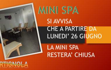 Chiusura MiniSpa